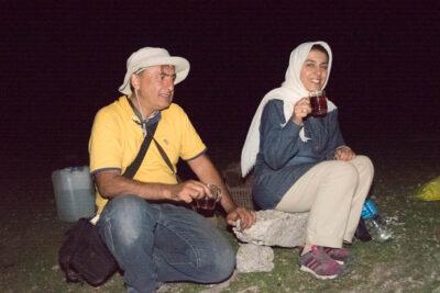 Ali Torkzadeh and Saeideh Ajilchi, at the Babak Castle, East Azerbaijan Province, northwest Iran