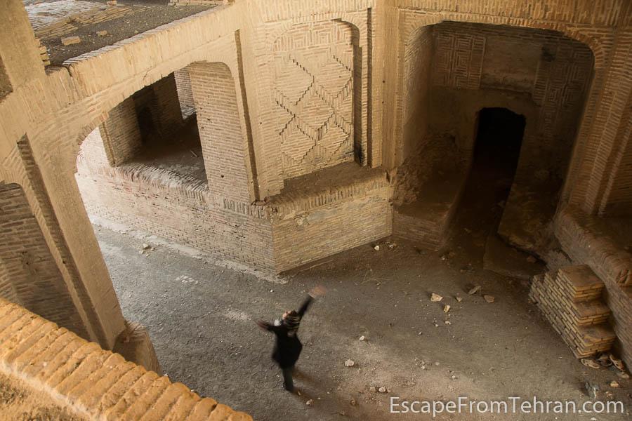 Inside the vestibule of the caravanserai of Zafaraniyeh