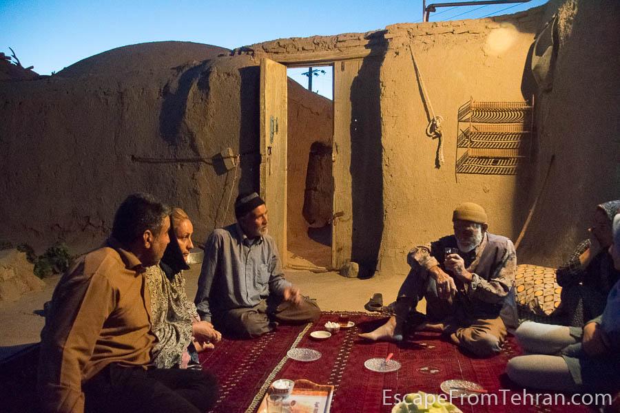 Tea and melons at a home in the village of Zafaraniyeh, Khorasan, Iran.