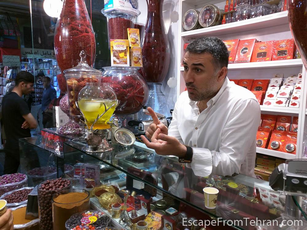 H.R. Asgari of VIP Saffron, Tajrish Bazaar, Tehran, Iran