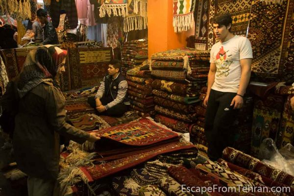 Shopping in and around Jome (JOE-meh) Bazaar, on Tehran's Jomhouri Ave.