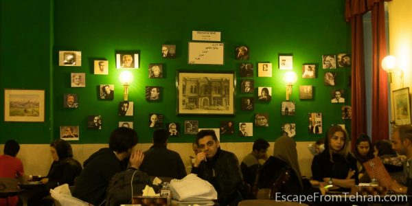 Tehran's famed Naderi (NAW-deri) Cafe, established 1927, on Jomhouri Ave.