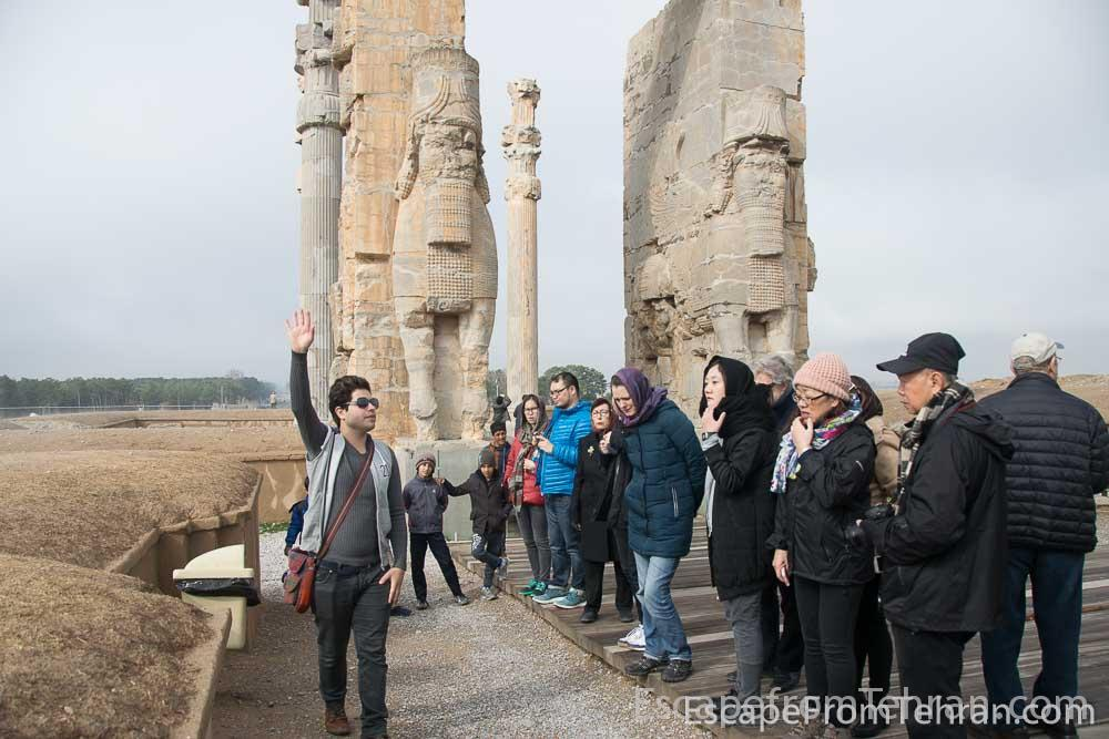Our tour group at Persepolis, near Shiraz, Iran