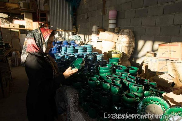 Shopping For Ceramics In Meybod, Yazd Province, Iran