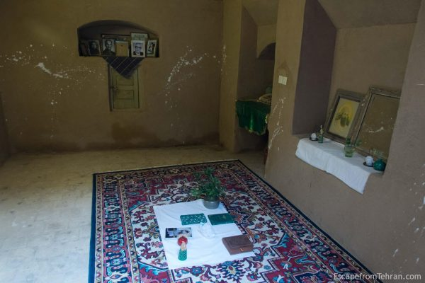 The room of meditation at the Zoroastrian Nartitee Ecolodge, Taft, Yazd Province, Iran