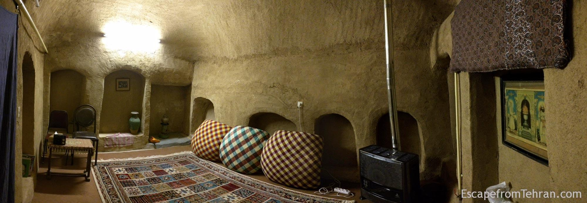 Our room at Nartitee Ecolodge, Taft, Yazd Province, Iran