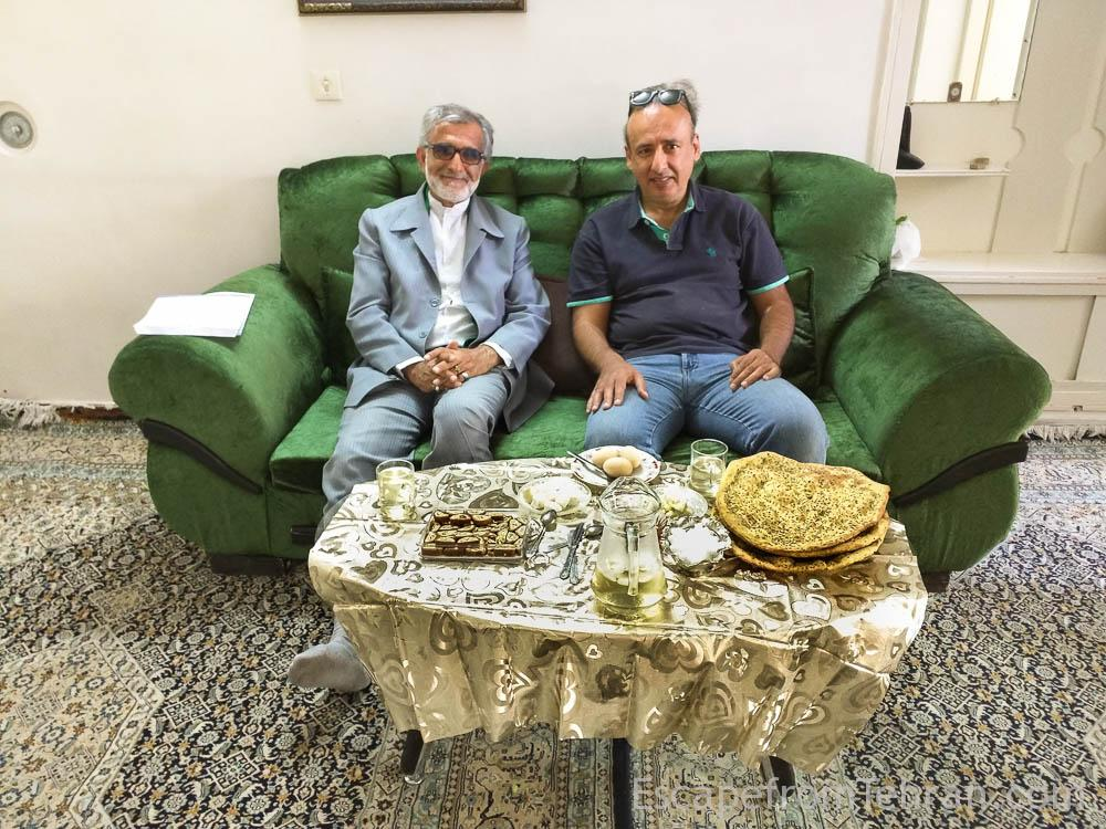 Author Ali Torkzadeh With Uncle In Law Javad Hashemi