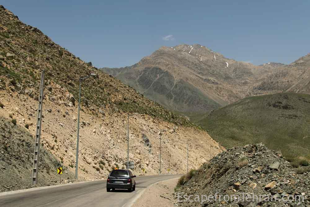 Mountainous Road To Kerman From Dasht E Lut, Kerman Province, Iran