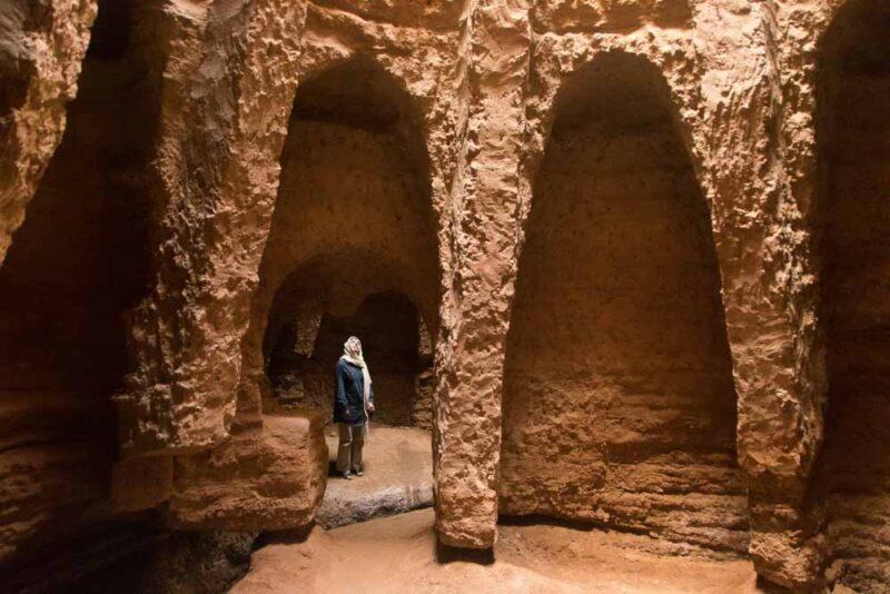Qanat Of Shafiabad, On The Edge Of Dasht E Lut Desert, Kerman Province, Iran