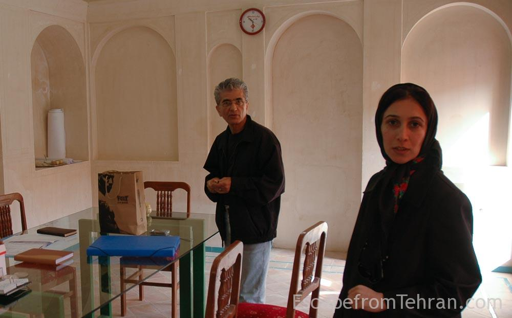 Tehran architect Mostafa Moghtadaee (left) spearheaded the restoration of the houses in Kashan, pictured here with artist and researcher Marjan Modarresi.