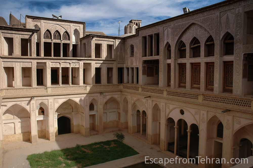 The Abbasi House, 205 years old, is known for its complex architectural design. Kashan. Iran.