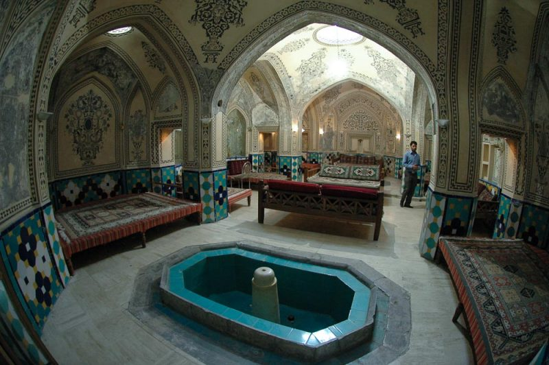 The Sultan Amir Ahmad bathhouse. Historical sites in kashan, iran (2006)